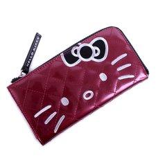 Hello Kitty Maroon Half-Zip Wallet