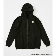 Attack on Titan R4G Survey Corps Black Zip Hoodie