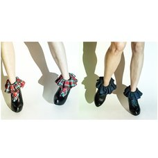 ERIMAKI SOX Erimaki Collar Tartan Checkered Socks