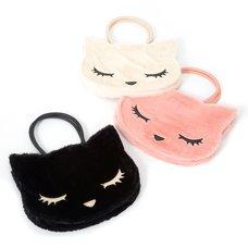 Osumashi Pooh-chan Fur Tote Bag