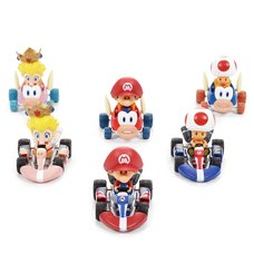 Mario Kart Deluxe Kart & Cheep Charger Figure Collection