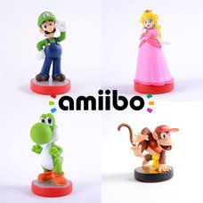 amiibo Diddy Kong, Peach, Luigi & Yoshi Set