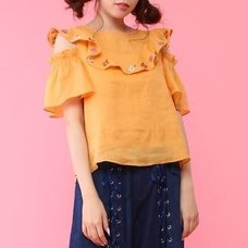 Honey Salon Embroidered Floral Linen Blouse