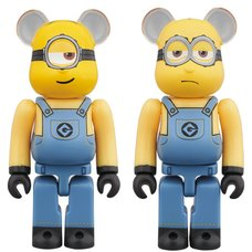 BE@RBRICK Despicable Me 3 Stuart & Kevin 100% 2-Pack