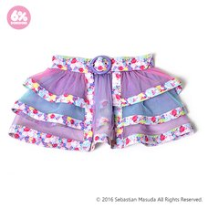 6%DOKIDOKI Colorful Rebellion-Pastel Mille-feuille Skirt Belt