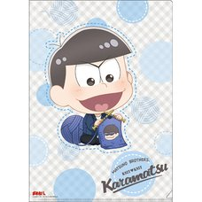 Osomatsu-san Knitting Wool Karamatsu Clear File