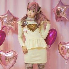 KOKOkim Fall in Chocolate Cake Long-Sleeve Dress