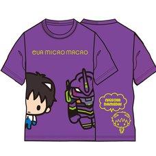 Eva Micro Macro Shinji & Unit-01 Purple T-Shirt