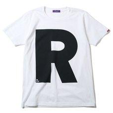 RADIO EVA 410 NERV Letter R White T-Shirt