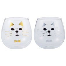 Happy Cat Day Cat Face Glass