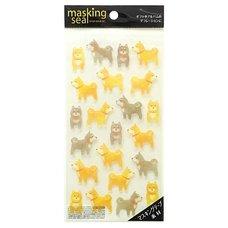 Masking Seal Shiba Inu Stickers