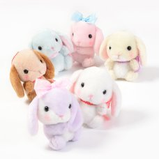 Pote Usa Loppy Feminine Rabbit Plush Collection (Ball Chain)