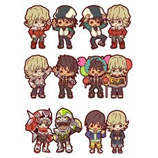 Buddy Collection Tiger & Bunny Rubber Mascots