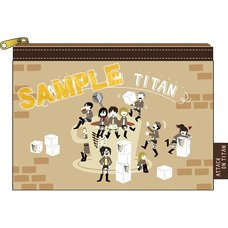 Attack on Titan Yuru Palette Ver. Clear Pouch