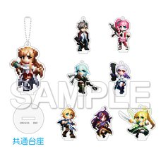 Sword Art Online Game Dot Trading Acrylic Keychain Collection B Complete Box Set