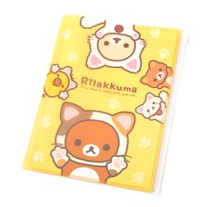 Rilakkuma Motto Nonbiri Neko 6+1 Pocket Clear File Folder