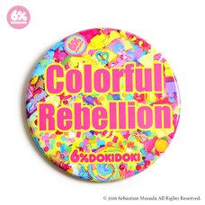 6%DOKIDOKI Colorful Rebellion Agitation Badge