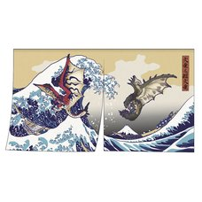 Monster Hunter Rathalos & Rathian x Fugaku Ukiyo-e Noren/Tapestry