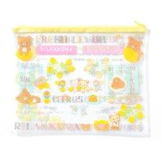 A Basketful of Lemons Rilakkuma Clear Soft B5 Case
