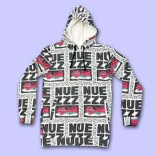 NUEZZZ Logo All-Over Print Hoodie