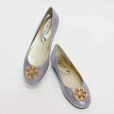 Sengoku Bushou - Chosokabe Motochika Family Crest Light Purple Pumps