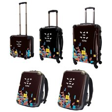 Tetris Art Suitcase & Rucksack Collection: Block (Black)