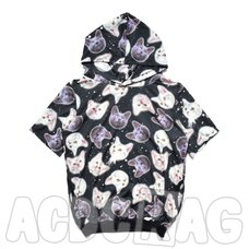 ACDC RAG Short-Sleeve Oversized Cat Hoodie