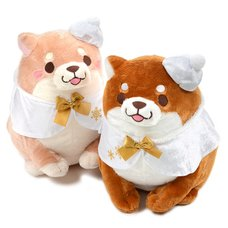 Chuken Mochi Shiba Hokkori Cape Big Plush Collection