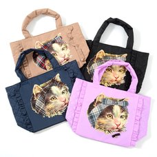 FLAPPER Hair Band Cat Tote Bags