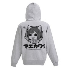 The Idolm@ster Cinderella Girls Theater Miku Maekawa Gray Zip Hoodie