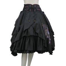 Ozz Oneste Wabana Printed Tiered Skirt