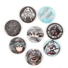 Hatsune Miku Metal Edition Tin Badge Set