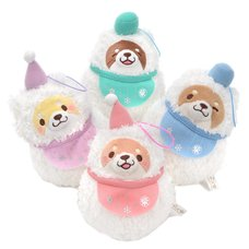 Chuken Mochi Shiba Snowman Plush Collection (Mini Strap)