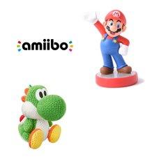Green Yarn Yoshi amiibo w/ Free Mario amiibo