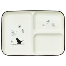 Wildflowers & Cat Lacquerware Lunch Plate