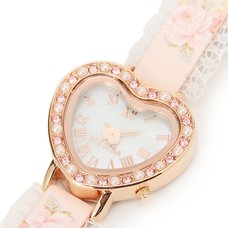 LIZ LISA Rose Watch w/ Heart Dial