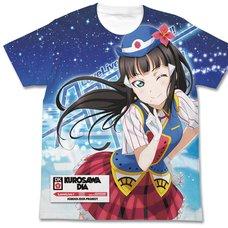 Love Live! Sunshine!! Dia Kurosawa Happy Party Train Ver. White Graphic T-Shirt
