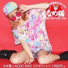 ACDC RAG Nameneko Candy Pattern T-Shirt
