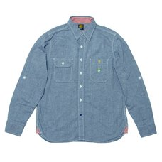 Super Mario Bros. Chambray Shirt (Blue)