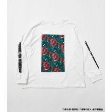 R4G Titan Graphic Long Sleeve White T-Shirt