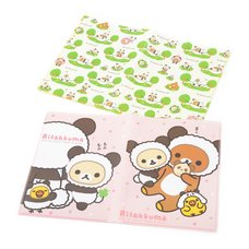 Rilakkuma Panda de Goron Clear Folder (10 Pockets)