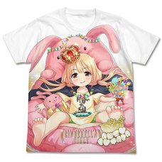 The Idolm@ster Cinderella Girls Gutara Kingdom Anzu Futaba Full-Color White T-Shirt