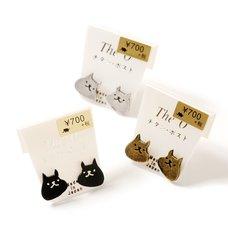 Osewaya Cheerful Cat Earrings
