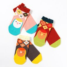 KOTORITACHI Peach-faced Lovebird Printed Socks