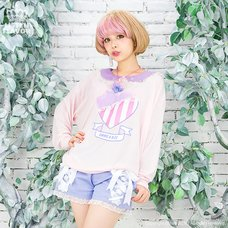 LISTEN FLAVOR Angelic Lace-up Ribbon Shorts