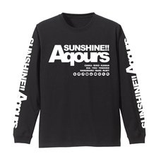 Love Live! Sunshine!! Aqours Long Sleeve Black T-Shirt