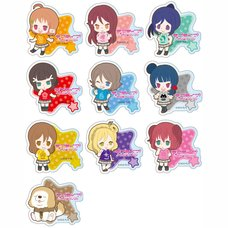 Love Live! Sunshine!! Acrylic Badge: T-Shirt Ver. Box Set