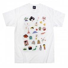 Pixel Japan White T-Shirt