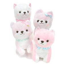 Mameshiba San Kyodai Fluffy Sakura-Colored Dog Plush Collection (Big)