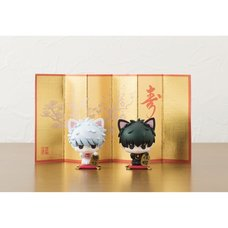 Petit Chara Land Gintama: A Fortune Cat on a Desk Set
